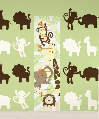 Jungle Nursery & Growth Chart Wall Decals Set