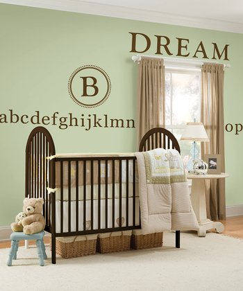 Durham Espresso Monogram Frame & Alphabet Wall Decals Set