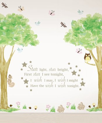 'Star Light, Star Bright' & Tree House Wall Decals Set