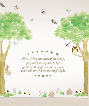 'Now I Lay Me Down' & Tree House Wall Decals Set