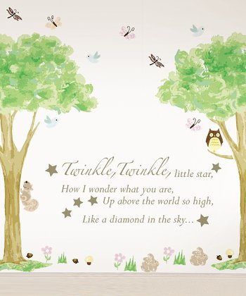 'Twinkle, Twinkle' & Tree House Wall Decals Set