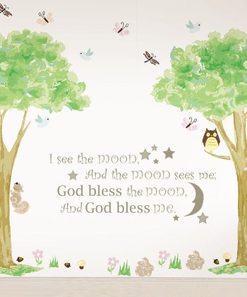 'I See the Moon' & Tree House Wall Decals Set
