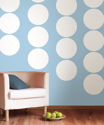 Ghost White Dot Wall Decal - Set of Five