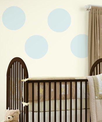 Baby Blue Dot Wall Decal - Set of Four