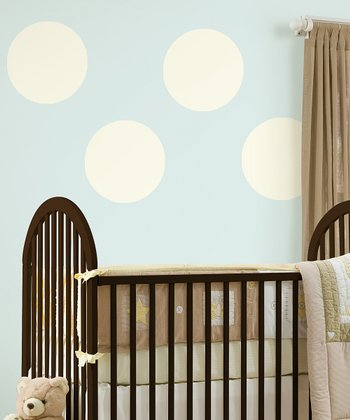 Ivory White Dot Wall Decal - Set of Four