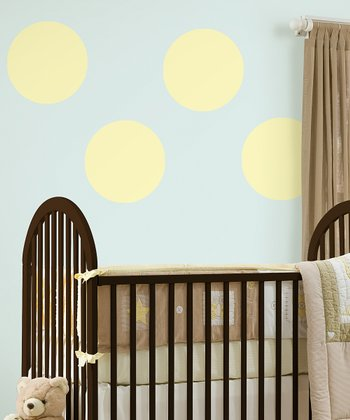 Buttercup Yellow Dot Wall Decal - Set of Four
