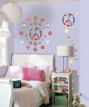 Peace Tie-Dye Wall Decal Set