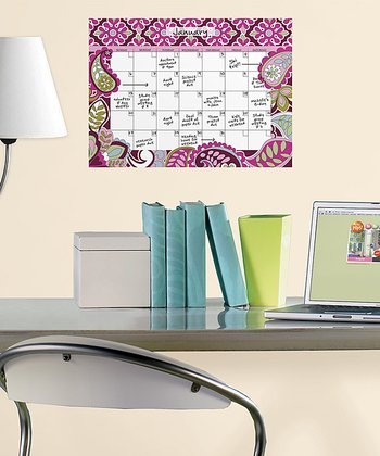 Very Berry Dry-Erase Calendar Wall Decal