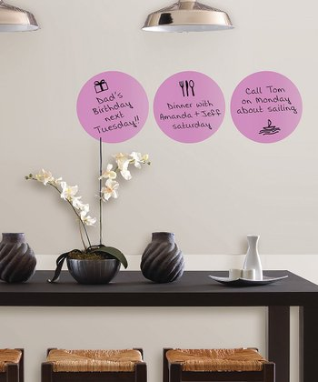 Purple Dry-Erase Dot - Set of Three