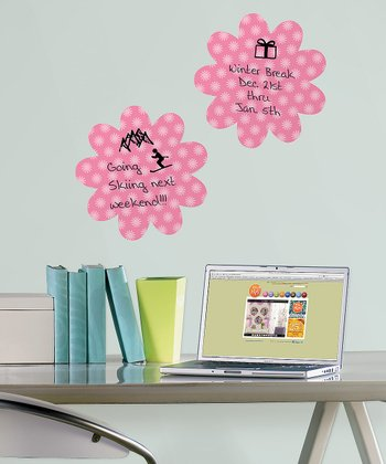 Daisy Flirt Dry-Erase Wall Decal - Set of Two