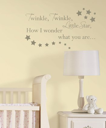 'Twinkle, Twinkle' Wall Decal Set