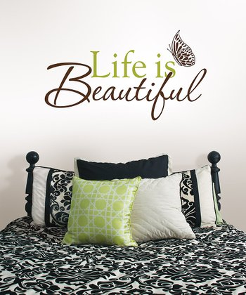 'Life is Beautiful' Wall Decal Set