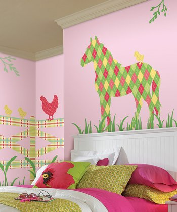 Addison the Horse ZooWallogy Decal Set