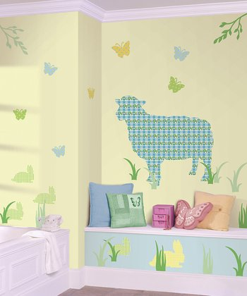 Betty the Lamb ZooWallogy Decal Set