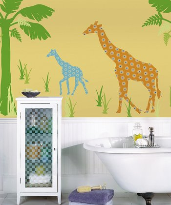 Riley the Giraffe ZooWallogy Decal Set