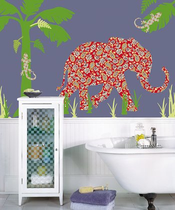 Mabuza the Elephant ZooWallogy Decal Set