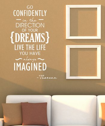 White 'Go Confidently' Wall Quote
