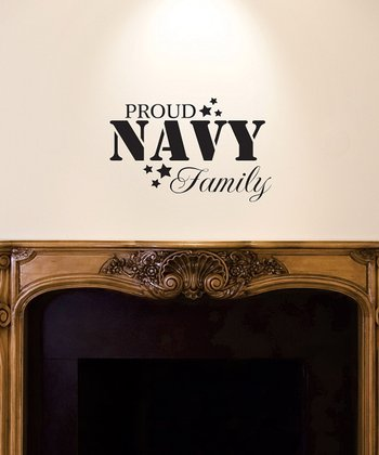 Black 'Navy Family' Wall Quote