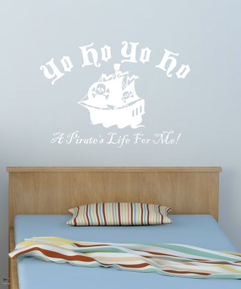 White 'Yo Ho Yo Ho' Wall Quote