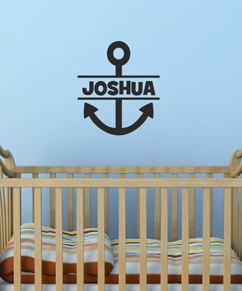 Black Anchor Personalized Wall Quote