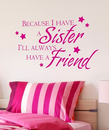 Pink 'Sister Friend' Wall Quote