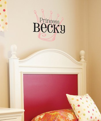 Black & Soft Pink 'Princess' Personalized Wall Quotes™ Decal