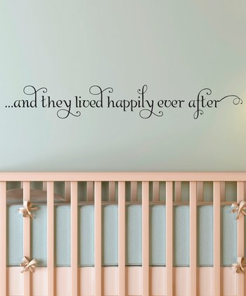 Black 'Happily Ever After' Wall Quotes™ Decal