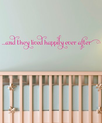 Pink 'Happily Ever After' Wall Quote