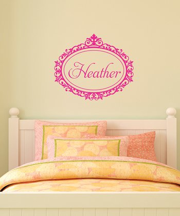 Pink Scroll Frame Personalized Wall Quotes™ Decal