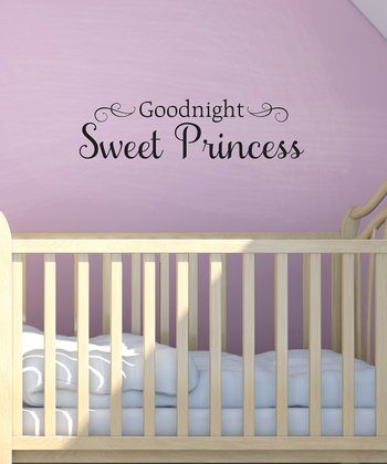 Black 'Sweet Princess' Wall Quote