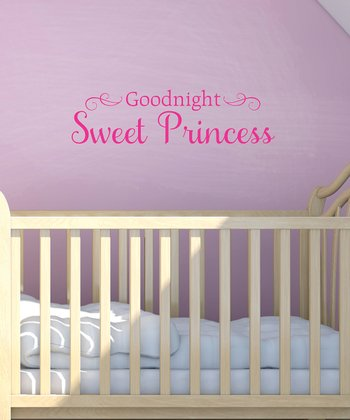 Pink 'Sweet Princess' Wall Quote