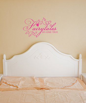 Pink 'Fairy Tales' Wall Quote