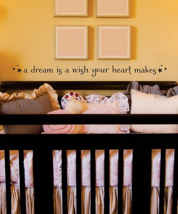 Black 'Dream is a Wish' Wall Quote