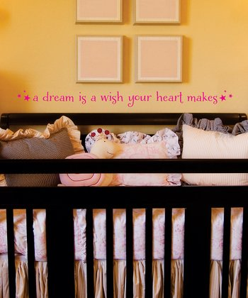 Pink 'Dream is a Wish' Wall Quotes™ Decal