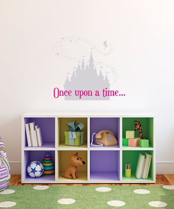 Silver & Pink 'Once Upon a Time' Wall Quote