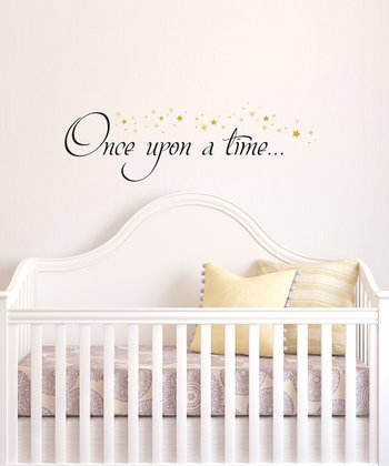 Black & Gold 'Once Upon a Time'  Wall Quotes™ Decal