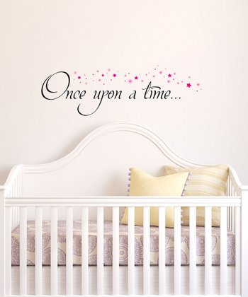 Black & Pink 'Once Upon a Time' Wall Quote