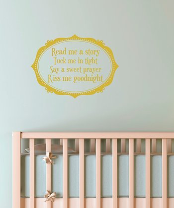 Belvedere Designs Gold 'Read Me A Story' Wall Quote