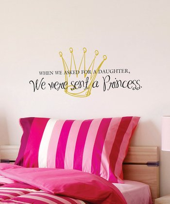 Belvedere Designs Gold & Black 'Daughter Princess' Wall Quote