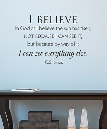 Black 'I Believe' Wall Quote