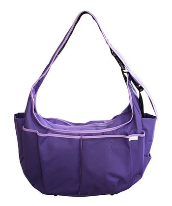 Lavender Leaves Hobo Original Diaper Bag/Nursing Pillow