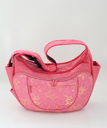 Pink Celestial Dragon Hobo Couture Diaper Bag/Nursing Pillow