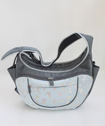Gray Flutterby Hobo Couture Diaper Bag/Nursing Pillow