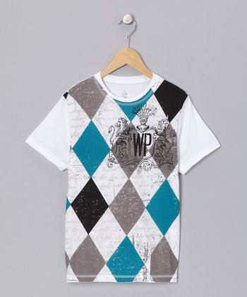 White & Turquoise Best Friend Tee - Toddler & Boys