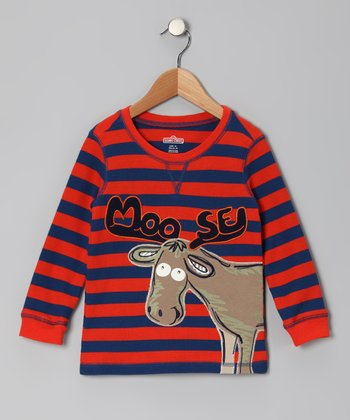 Orange 'Moose' Thermal - Infant & Toddler