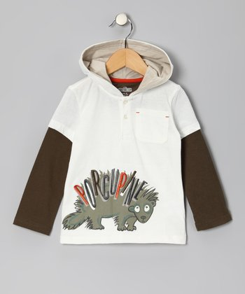 Beige 'Porcupine' Layered Polo - Infant