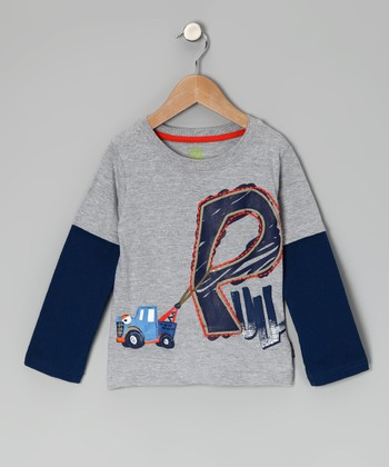 Gray Truck 'Pull' Layered Tee - Infant & Toddler