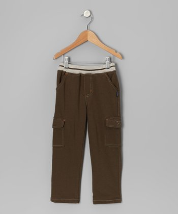 Olive Green Cargo Pants - Toddler