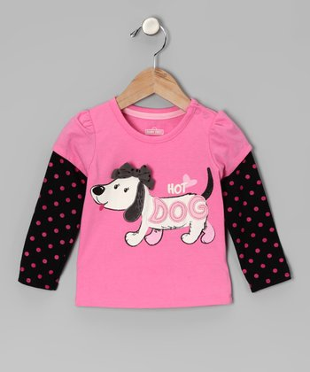 Pink 'Hot Dog' Layered Tee - Infant