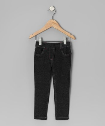 Black Contrast Stitch Pants - Infant